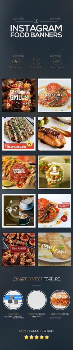 10 Food Banners  — PSD Template #social media promotions #cafe • Download ➝…