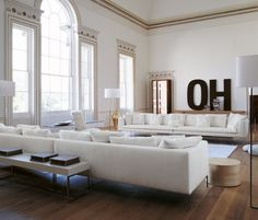 no the OH but the long white couches