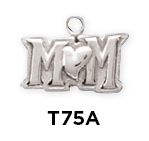 Mom Word Charm $14  Sterling Silver Mom Word Charm http://www.finegifts.labellabaskets.com/