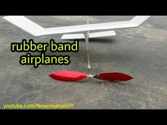 how to build a simple rubber band airplanes and fly long [newcd] - YouTube