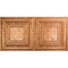 Surface Mount Tiles: Fasade Building Materials Traditional 3 - 2 ft. x 4 ft. Glue-up Ceiling Tile in Cracked Copper G52-19
