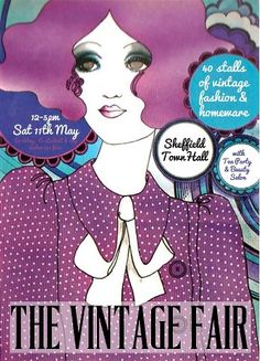 The Sheffield Vintage Fair is back with a spring/summer installment. Treat yourself to fantastic vintage pieces and enjoy an amazing cupcake and cup of tea. Open 11-5 on Saturday 11th May. £2 admission for anyone with a student card.  #sheffield #vintage #vintagefair #townhall #fashion