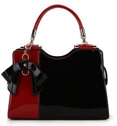 Scarleton Elegant Two Tone Satchel H14231001 - Red/Black: Handbags: Amazon.com