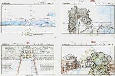 Film: Spirited Away (千と千尋の神隠し) ===== Layout Design - Scene: Return To The Bath House ===== Hayao Miyazaki
