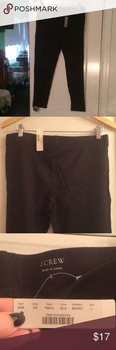 J Crew fleece lined leggings, Black J Crew fleece lined leggings, never worn. These run small, I would estimate these at a 8/10 or 10/12 size. They also are not as stretchy as many leggings, so the size is not as forgiving as some. Would be great with boots and a cozy sweater in these cold months! J. Crew Pants Leggings