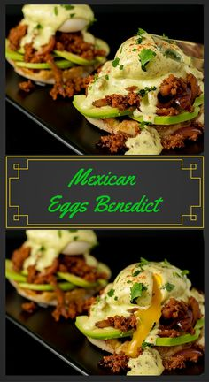 Mexican Eggs Benedict: Avocados,Chorizo and a poached egg topped with Cilantro Lime Hollandaise. YES PLEASE!! More