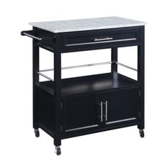 FREE SHIPPING! Shop Wayfair for Linon Kitchen Cart with Granite Top - Great Deals on all Furniture products with the best selection to choose from!