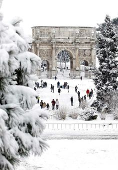 Rome under Snow. Winter - / - - Your Local 14 day Weather FREE > www.weathertrends... No Ads or Apps or Hidden Costs