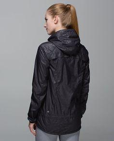 Lululemon Miss Misty Jacket in Animal Swirl Embossed Black