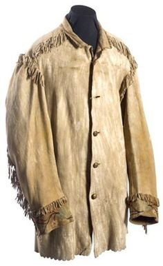 buckskin clothing | textiles & clothing, America, An embroidered buckskin coat with four ...
