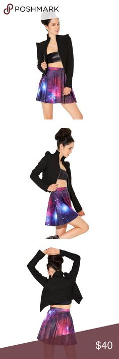 Black Milk Purple Galaxy Skater Skirt Truly just as vibrant in person! Love it to bits but I don't get a chance to wear it often anymore. The pattern/outside of the skirt is in pristine condition. The inside/white part has some signs of wear and marks. Blackmilk Skirts Circle & Skater