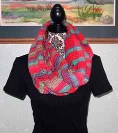 A personal favorite from my Etsy shop https://www.etsy.com/listing/263551803/striped-infinity-scarf