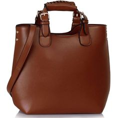 Designer Clothes, Shoes & Bags for Women Crossbody Tote, Brown Purses, Handbags, Casual, Polyvore, Leather, Stuff To Buy, Women, Vegan
