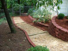 c0dbfa70f50c7c46b029d2b7cf778de9--gravel-pathway-pea-gravel South West Brick Pea Gravel Garden Design on