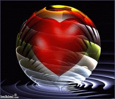 heart inside sphere Love Heart Images, Love You Images, Heart Pictures, I Love Heart, Gif Pictures, Heart Pics, Beautiful Nature Wallpaper, Beautiful Gif, Beautiful Fantasy Art