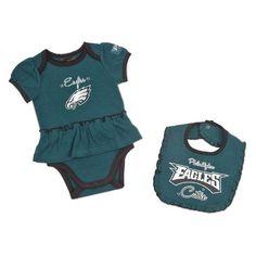 ad3079e93 NFL Philadelphia Eagles Girl s Bodysuit and Bib Set