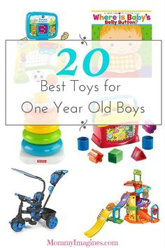 This is an awesome list of toys for 1 year old boys. Toys that make learning fun. Toddler tested and approved. Perfect gifts for birthdays or Christmas!