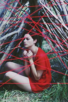 Final images for Red String shoot.     Fashion & Portraiture Photography by Lynnsey Dunson - * the red string of fate