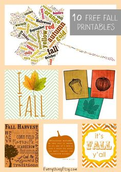 10 Fall Printables to Welcome in the Season