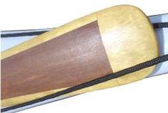 Closeup of Greenland kayak blade