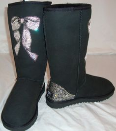 Love the look of these #Swarovski embellished UGGs!