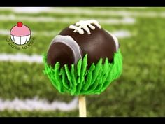 Superbowl Football Cakepops - NFL Football Cake Pop - A Cupcake Addiction How To Tutorial