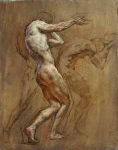 """Telemon,"" by Robert Liberace, oil on silk -- at Principle Gallery Figure Sketching, Figure Drawing Reference, Robert Liberace, Figure Painting, Painting & Drawing, Classical Realism, Academic Art, Human Art, Life Drawing"