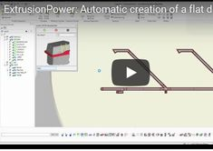 "ExtrusionPower: Automatic Generation of 3D extrusion die models from 2D extrusion die drawings.  A new 5 minutes video showing the automatic generation of a 3D aluminium extrusion die with the help of ""Extrumat"" function of ExtrusionPower, including 3D Bearings and exit tapers.  Only few information given on a 2D die drawing is enough to transfer the die drawings into 3D extrusion die models."