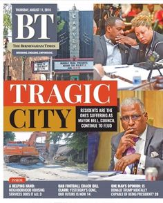 This week's Birmingham Times cover focuses on the tension between the mayor and the council. #BTcovers