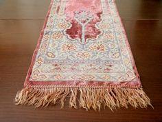 Antique Silk Velvet Table Runners by OldGreenCanoe on Etsy, $70.00