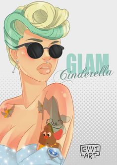 Emmanuel Viola Disney Pinup Cinderella. This is my favorite, but there's other ones that're cool too! http://www.smosh.com/smosh-pit/photos/artist-makes-disney-princesses-inked-up-pin-ups