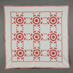 Cotton Touching Stars Quilt | Sale Number 2753T, Lot Number 1173 | Skinner Auctioneers