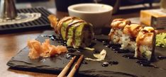 Sushi Sushi, Ethnic Recipes, Food, Eten, Meals, Sushi Rolls, Diet