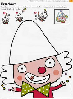 Hat clown decorating with confetti Clown Cirque, Circus Clown, Circus Theme, Carnival Activities, Fall Preschool Activities, Art Activities, Mardi Gras, Theme Carnaval, Face Doodles