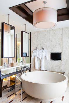 Conrad Koh Samui Bathroom Oceanview Pool Villa