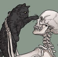Just a few pictures of me and Shadow ! Skeleton Drawings, Skeleton Art, Art Sketches, Art Drawings, Images Esthétiques, Arte Obscura, Skull Wallpaper, Skull Art, Aesthetic Art