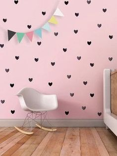 The wall is too cute, yet simple! the boo and the boy: eclectic kids' rooms