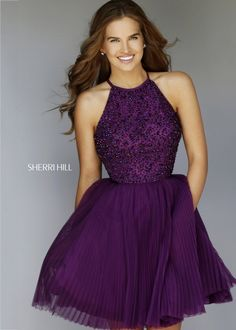 Sherri Hill 32335 Beaded Halter Party Dress