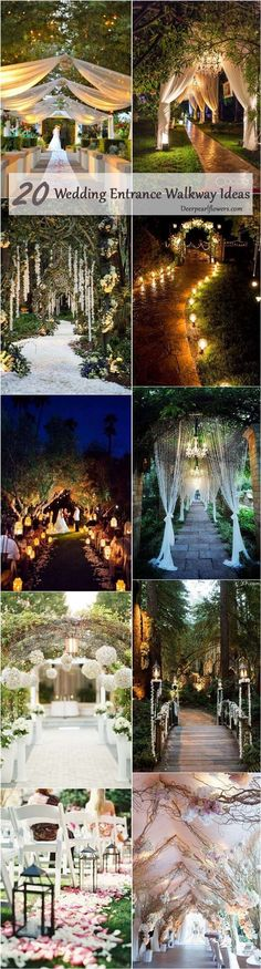 Wedding Entrance Walkway Decor Ideas / http://www.deerpearlflowers.com/wedding-entrance-walkway-decor-ideas/