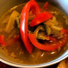 野菜のダシ汁と最後にミルクで仕上げてヘルシーに(*^^*) - 7件のもぐもぐ - タイカレー春雨ヌードル by Prorikin