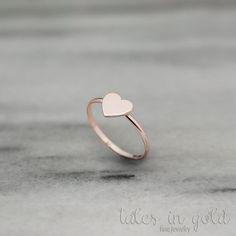 Rose Gold Heart Ring Romantic Heart Ring Gold Ring Rose Gold Love Ring Solid Heart Ring Minimal Ring Gift For Her Heart Jewelry - Your heart is made of gold. Its nice and friendly! Your feelings are true let the whole world - jewelry Rose Gold Heart Ring, 14k Gold Ring, Heart Of Gold, Silver Ring, Heart Jewelry, Cute Jewelry, Gold Jewelry, Diamond Bracelets, Bijoux Design