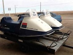 1972 Evenrude snowmobiles ... 140 miles on each.