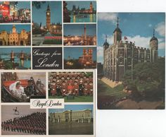 3 Postcards of London, England, c1980s, Royal London, White Tower, Tower of London by VintageNEJunk on Etsy
