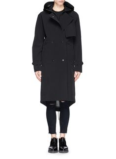 T BY ALEXANDER WANG Water repellant bonded nylon trench coat