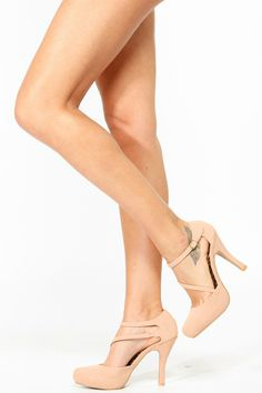 Qupid Strappy Almond Toe Platform