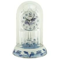 Waltham Anniversary Clock Dolphins - Rotating Crystal Dolphins