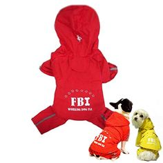 FBI Pattern Outdoor Waterproof Pet Hoodie Raincoat * See this awesome image  (This is an amazon affiliate link. I may earn commission from it)