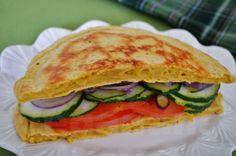Sanduiche de Frigideira sem Gluten ~ Gluten-Free Skillet Flatbread ~ Veganana