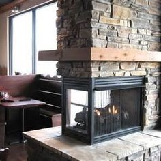 corner two sided fireplace mantels | Roll over photo above to see ...