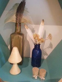 Feather decoration. Very boho